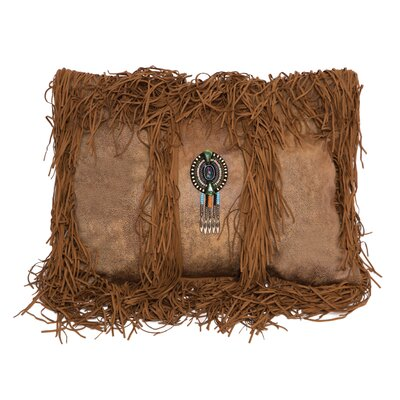 Vanhoose Tobacco Medallion Fringe Lumbar Pillow
