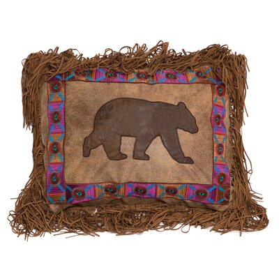 Vanhorn Embroidered Band Bear Lumbar Pillow