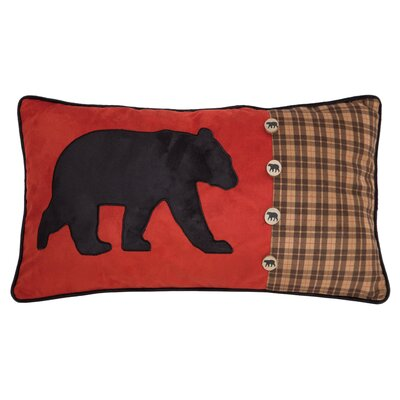 Vanhouten Bear and Buttons Lumbar Pillow