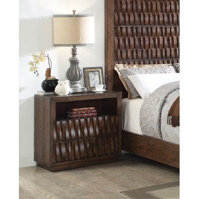 Pinnix 2 Drawer Nightstand