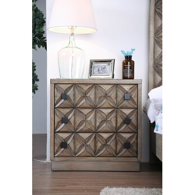 Pinnix 3 Drawer Nightstand