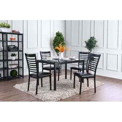 Bhamidipati Dining Table Color: Black, Size: 30 H x 30 W x 47 L