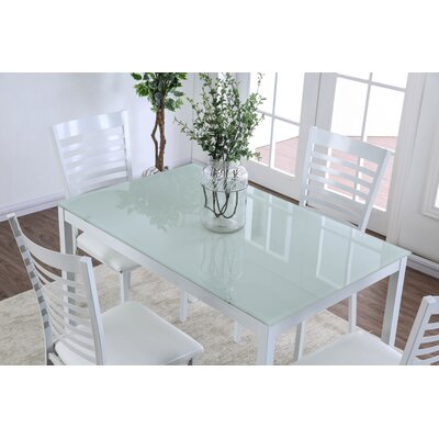 Bhamidipati Dining Table Color: White, Size: 30 H x 30 W x 47 L