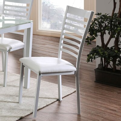 Bhamidipati Dining Chair Finish: White