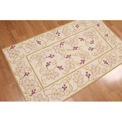 Georges One-of-a-Kind Traditional Oriental Hand-Knotted Wool Beige Area Rug