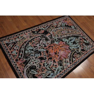 Geremia One-of-a-Kind Modern Oriental Hand-Knotted Wool Blue Area Rug