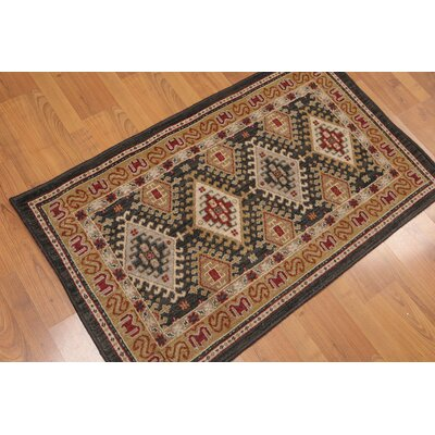 Wetherbee One-of-a-Kind Authentic Traditional Oriental Hand-Woven Wool Charcoal Area Rug