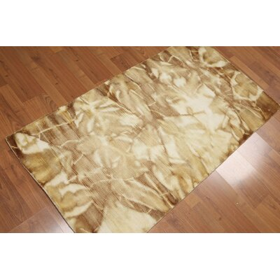 Ingelido One-of-a-Kind Pile Modern Oriental Hand-Knotted Wool Ivory Area Rug