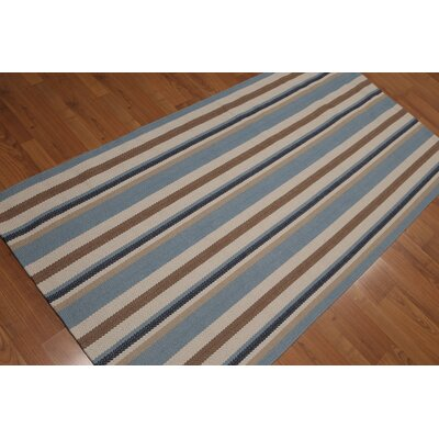 Wicker Park One-of-a-Kind Reversible Modern Oriental Hand-Knotted Wool Beige Area Rug