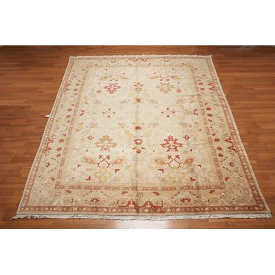 Genoveva One-of-a-Kind Traditional Oriental Hand-Knotted Wool Beige Area Rug