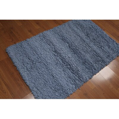 Thummepalli One-of-a-Kind Modern Oriental Hand-Knotted Wool Blue Area Rug