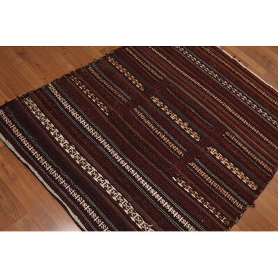 Pfarr One-of-a-Kind Dhurry Kilim Oriental Hand-Woven Wool Rust Area Rug