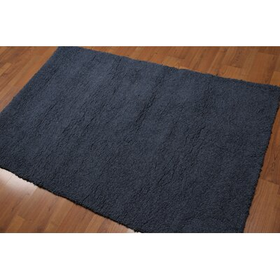 Dirk One-of-a-Kind Modern Oriental Hand-Knotted Wool Grayish Blue Area Rug
