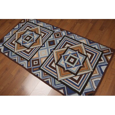 Curiel One-of-a-Kind Modern Oriental Hand-Knotted Wool Brown Area Rug