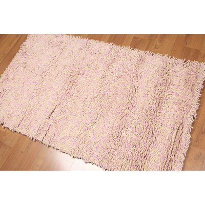 Salena One-of-a-Kind Modern Oriental Hand-Knotted Wool Pink Area Rug