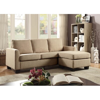 Keown Reversible Sectional Upholstery: Beige