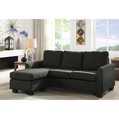 Keown Reversible Sectional Upholstery: Dark Gray