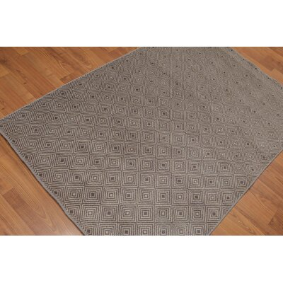 Doyers One-of-a-Kind Contemporary Oriental Hand-Knotted Wool Gray Area Rug