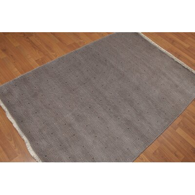 Doylestown One-of-a-Kind Contemporary Oriental Hand-Knotted Wool Gray Area Rug