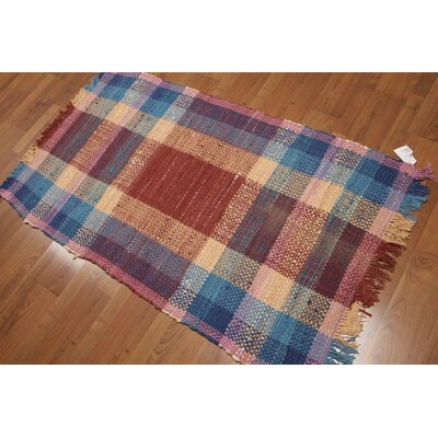 Swindlehurst One-of-a-Kind Dhurry Reversible Contemporary Oriental Hand-Woven Wool Rust Area Rug