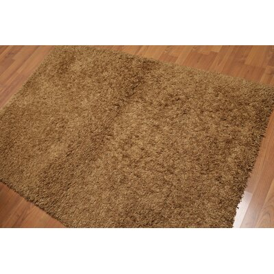 Waugh One-of-a-Kind Modern Oriental Hand-Knotted Wool Brown Area Rug