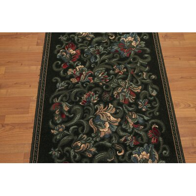 Gerrell Traditional Wool Charcoal Area Rug
