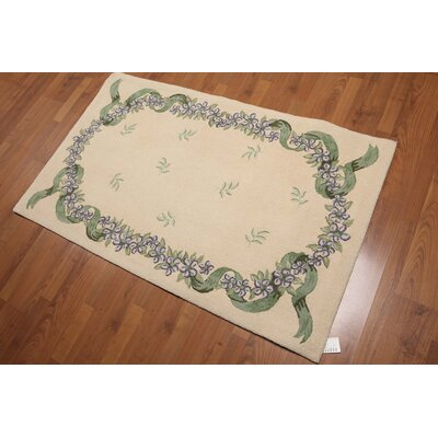 Maragozakis One-of-a-Kind Traditional Oriental Hand-Knotted Wool Beige Area Rug