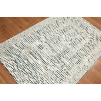 Petrus Flat Pile Wool Ivory Area Rug