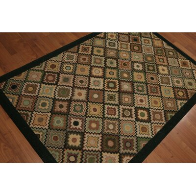 Cothern One-of-a-Kind Transitional Oriental Hand-Knotted Wool Green Area Rug