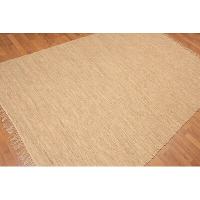 Wethington One-of-a-Kind Contemporary Oriental Hand-Woven Tan Area Rug
