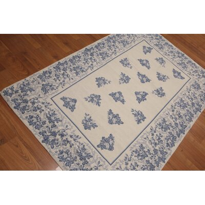Gino One-of-a-Kind Needlepoint Aubusson Traditional Oriental Hand-Woven Wool Beige Area Rug