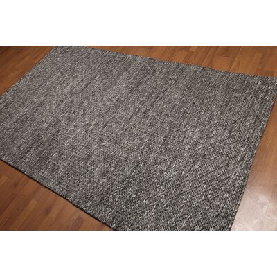 Lemelin One-of-a-Kind Plus Pile Modern Oriental Hand-Woven Wool Gray Area Rug