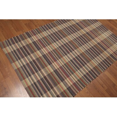 Watley One-of-a-Kind Reversible Flatweave Modern Oriental Hand-Woven Wool Beige Area Rug