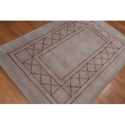 Watlington Modern Oriental Wool Gray Area Rug