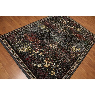 Gallia Modern Wool Black Area Rug