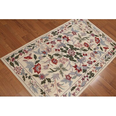 Giomar One-of-a-Kind Pile Reversible Modern Oriental Hand-Knotted Wool Blue Area Rug