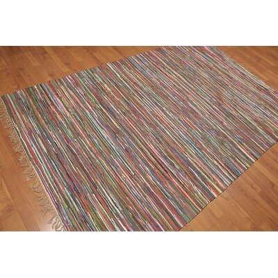 Wasson One-of-a-Kind Modern Oriental Hand-Woven Cotton Brown Area Rug