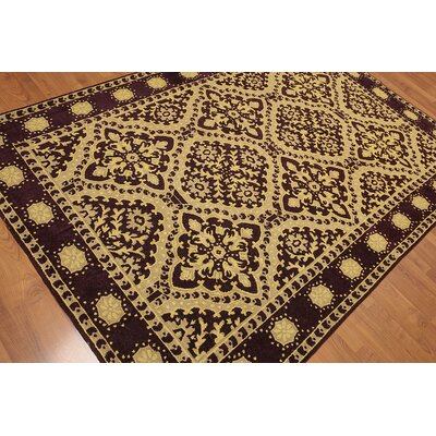Gard One-of-a-Kind Traditional Oriental Hand-Woven Wool Gold Area Rug