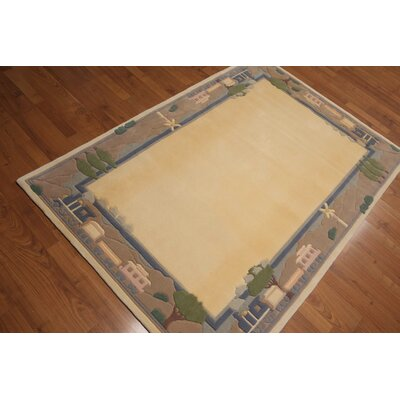 Cornel One-of-a-Kind Traditional Oriental Hand-Knotted Wool Vanilla Area Rug