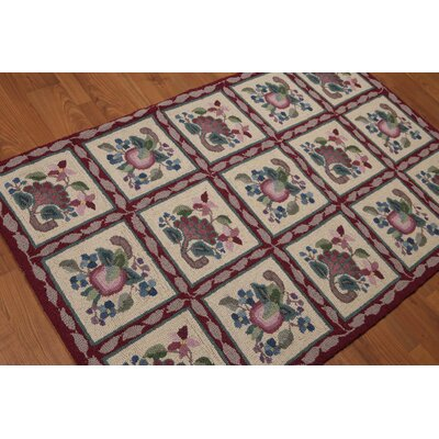Giulia One-of-a-Kind Traditional Oriental Hand-Knotted Wool Beige Area Rug