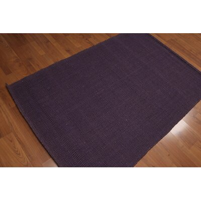 Quast One-of-a-Kind Dhurry Kilim Reversible Modern Oriental Hand-Woven Purple Area Rug