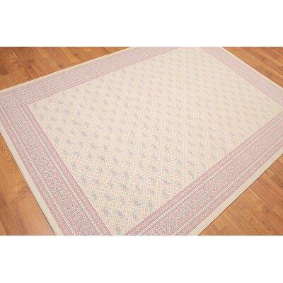 Panigrahy Flatweave Modern Wool Ivory Area Rug