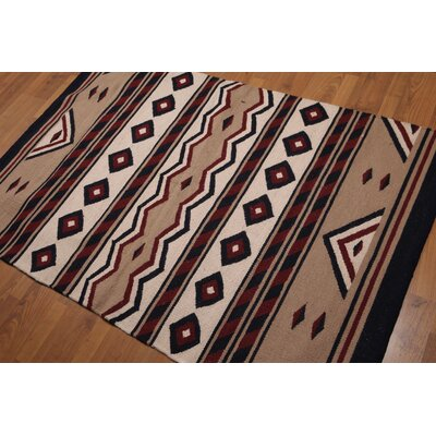 Quarterman One-of-a-Kind Dhurry Kilim Reversible Traditional Oriental Hand-Woven Wool Beige Area Rug