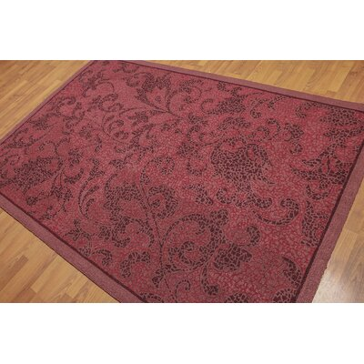 Garlen One-of-a-Kind Modern Oriental Hand-Knotted Wool Burgundy Area Rug