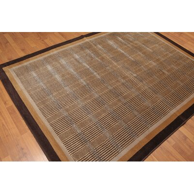 Wetzler Modern Wool Brown Area Rug