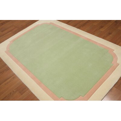 Regitsky One-of-a-Kind Traditional Oriental Hand-Tufted Wool Light Green Area Rug