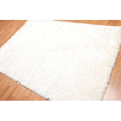 Tawade One-of-a-Kind Modern Oriental Hand-Knotted White Area Rug