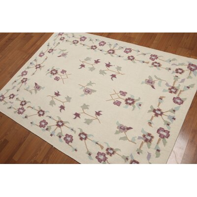 Gregor One-of-a-Kind Reversible Traditional Oriental Hand-Knotted Wool Ivory Area Rug