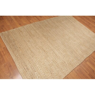 Quinto One-of-a-Kind Dhurry Modern Oriental Hand-Woven Tan Area Rug