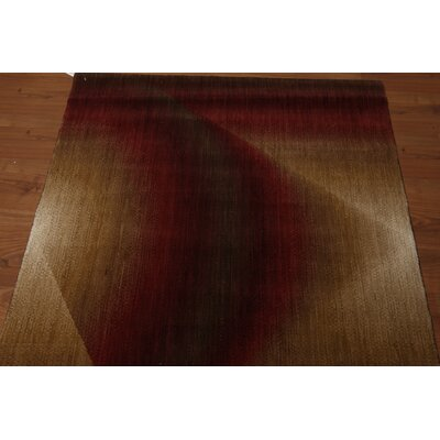 Main Pile Modern Oriental Wool Red Area Rug